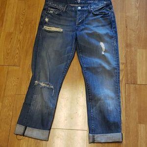 7FAM Rickie classic boyfriend jeans sz 27